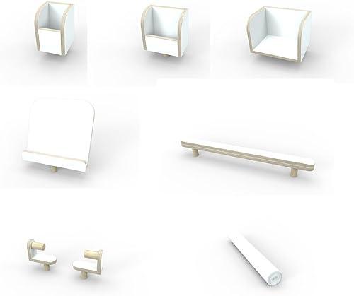 primera reputación de los clientes primero Pure2 Pure2 Pure2 Juego de Herramientas para la Mesa Growing Table Position, Revestimiento de Color blanco.  100% a estrenar con calidad original.