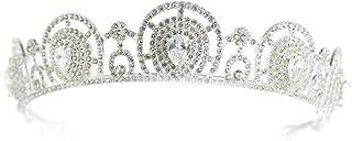 YNYA Tiare Bridal Crown Headband Shiny Princess Queen Accessori per Capelli Corona Wedding Matrimonio Compleanno Copricapo...