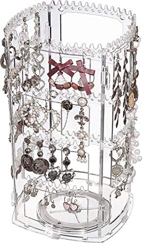 Cq acrylic 360 Rotating Earrings Holder and Jewelry Display Rack 4 Tiers Jewelry Rack Display product image