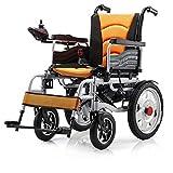 NACHENW Selbstfahrender Klapprollstuhl Leichtes Mobilitätsgerät für ältere, behinderte, hemiplegische Patienten,Orange -