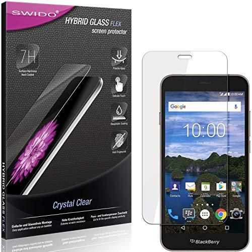 SWIDO Panzerglas Schutzfolie kompatibel mit BlackBerry Aurora Bildschirmschutz-Folie & Glas = biegsames HYBRIDGLAS, splitterfrei, Anti-Fingerprint KLAR - HD-Clear