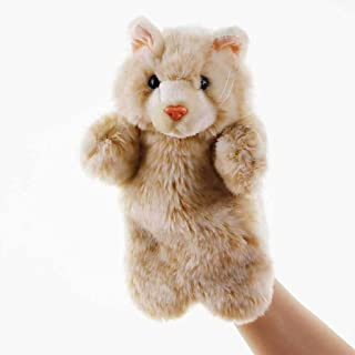 JSQTOY Plush Puppet Hand Puppets Cute Cat Soft Plush Doll Toys for Children Play Story Toy Hand Puppet (Color : B)