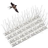 4 Piezas Sistema Anti Pájaros de Acero Inoxidable Puntos de Control de Palomas Kit de Disuasión de Pájaros Espina Pinchos Antipalomas para ahuyentar Palomas para Pájaros, Cuervos 33cm