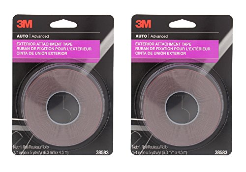 3M 38583 1/4' x 15' Exterior Attachment Tape (2 Pack)
