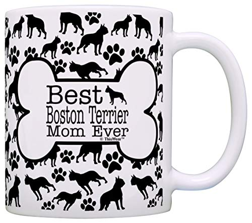 Taza de té con texto en inglés 'Best Boston Terrier Mom Ever Animal Pet Owner Rescue Gifts - Taza de té