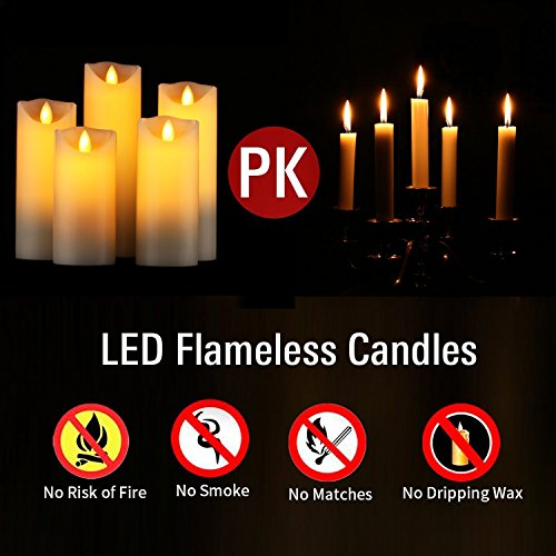 LED Kerzen im 5er Set - 5