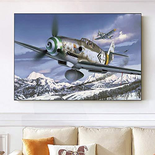 Puzzle 1000 piezas Pintura de arte de aviones militares de la fuerza aérea alemana puzzle 1000 piezas paisajes Juego de habilidad para toda la familia, colorido juego de ubica50x75cm(20x30inch)
