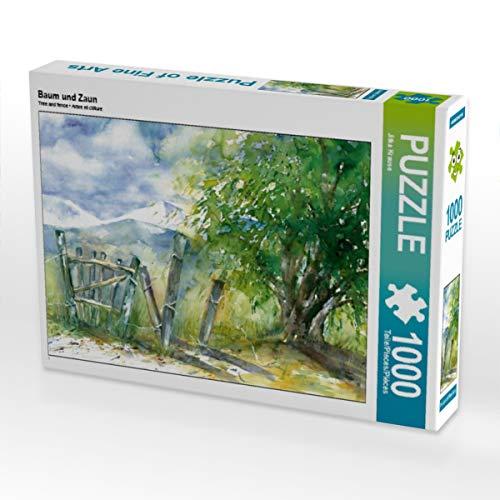 CALVENDO Puzzle Baum und Zaun 1000 Teile Lege-Größe 64 x 48 cm Foto-Puzzle Bild von Jitka Krause