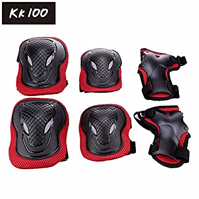 Kk 100 Adult Unisex Cycling and Roller Blading Wrist Elbow Knee Protective Safety Gear Guard 6pcs Set