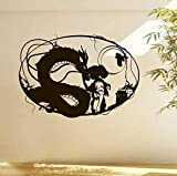 TYUAC Wall Stickers Comics Manga Anime Cartoon Hayao Miyazaki Spirited Away Wall Decals Vinyl Wall Stickers For Kids Rooms Art Decor Mural Poster 58x40cm