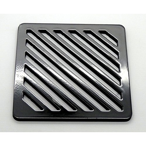 Bodengitter, quadratisch, massives Metall, 7,6 cm, strapazierfähig, Abflussrost wie Gusseisen