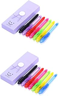 Arctic Fish Spy Pen 14 Pack Invisible Ink Pen with UV Light Secret Message Writer Fun for Party Favors Ideas Gifts Stocking Stuffers for Kids(7 Colors, 14 Pack)