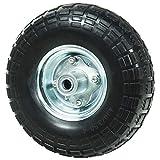 WerkaPro 10349 - Roue increvable 10' - Diam 260 x 85 mm - Axe Déporté 16mm - Idéal pour diable, chariot