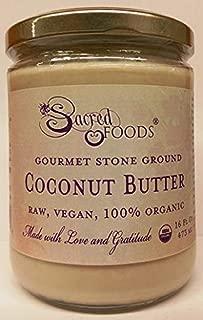 Sacred Foods Stone Ground Gourmet Coconut Butter Raw Vegan Organic 16 Fl Oz