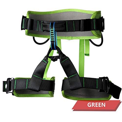 DFGENLY Imbracatura da Arrampicata a Mezzo Corpo Cintura di Sicurezza Anticaduta Alpinismo Soccorso Antincendio Speleologia- Materiale Poliesteregreen