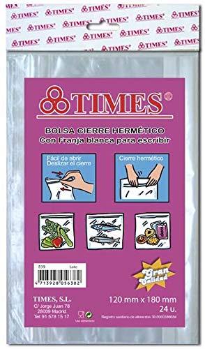Pack 288 Bolsas Herméticas 120x180 mm Plástico Cierre Zip Transparentes con Banda Escritura | Aptas Uso Alimentario y Congelación Muy Resistentes