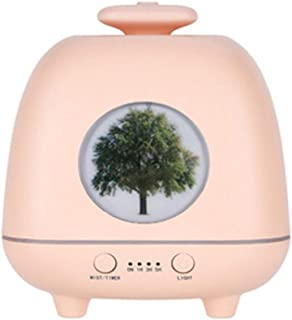 W/a/n/g Aroma Essential Oil Diffuser Ultrasonic Air Humidifier LED Lights for Office Home Car USB Fogger Mist Maker Night Lamp (Color : Pink)