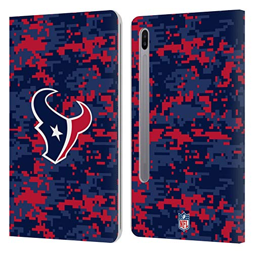 Official NFL Digital Camouflage 2018/19 Houston Texans Leather Book Wallet Case Cover Compatible For Samsung Galaxy Tab S6 (2019)