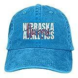 Lsjuee Nebraska Cornhusker State1 Gorras de béisbol Ajustables Sombreros de Mezclilla Sombrero de Va...