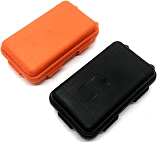 HUELE 2PCS Outdoor Plastic Waterproof Shockproof Box Airtight Survival Case Container Storage Carry Box Small (5.31'' x 3.15 '' x 1.53 '' )