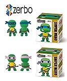 Zerbo Clay Modeling & Sculpting Set of 2 Ninja Turtles Air-Dry Clay Kit