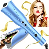 Auto Hair Curler, Automatic Curling Iron Wand with 4 Temp Up to 425℉& Timer, 1' Larger Rotating Barrel Curling Wand...