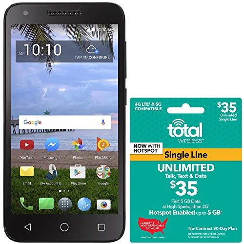 Total Wireless TCL LX 4G LTE Prepaid Smartphone with $35 Airtime Bundle