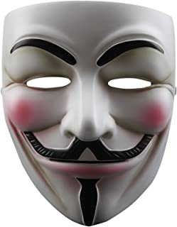 NEVLANTII V for Vendetta Anonymous Guy Fawkes Resin Fancy Cool Costume Cosplay Mask for Parties, Carnivals