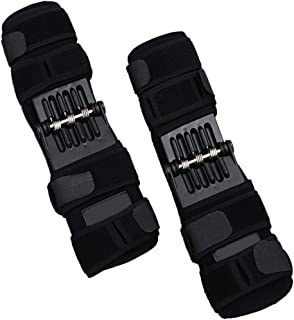 Knee Booster Brace,Spring Joint Support Powerful Rebounds Force for Knees Osteoarthritis Climbing Squat Mountaineering Exercising(One Size 2 Sets)