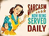 Sarcasm now being served daily. Young 50's house wife. Funny Humour. Pinup style art work. Painted. ...