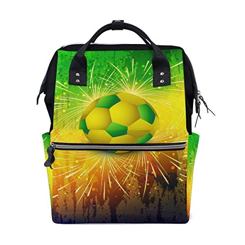 NHJYU Fire Cool Football Travel Sac à dos Large Nappy Sac à langer Laptop Sac à doss for Women Men