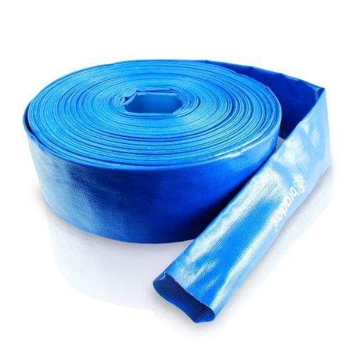 Bradas WAF2B300050 PVC Flachschlauch, 3 Zoll, 50 m, 2 Bar, blau, 20 x 20 x 5 cm