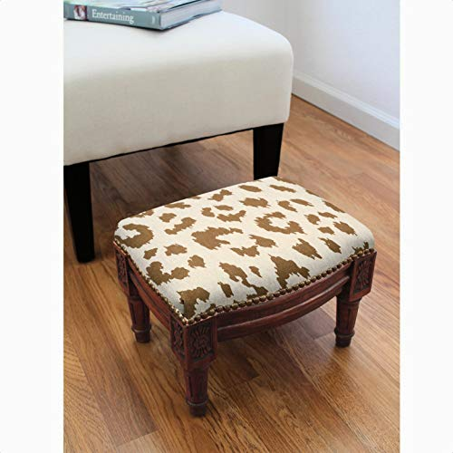 Bonaventure Cheetah Ottoman, Adult Assembly Required: No, Shape: Rectangle