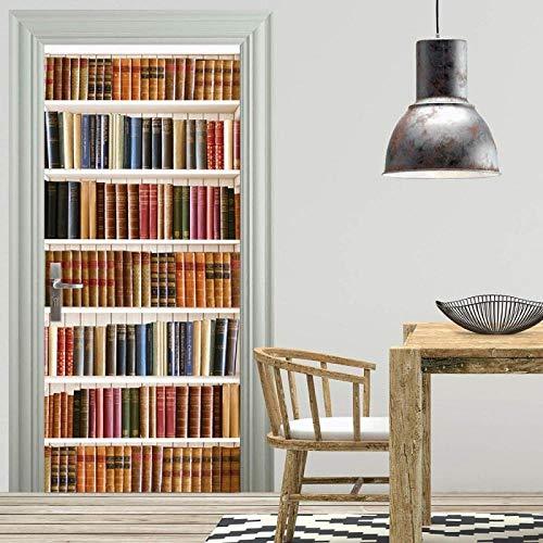 Deurfolie Poster Boek Bibliotheekkast 3D Muursticker Muurschildering Home Decor