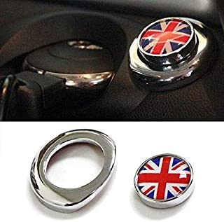 iJDMTOY (1) Classic Red/Blue UK Union Jack Design Engine Start Push Start Cap Cover for 2nd Gen Mini Cooper