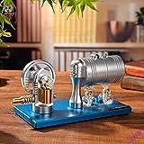 LKZL Modelo de Motor de Vapor Stirling, Cilindro del Motor de Vapor con Lámpara de Alcohol para Caldera de Calefacción, Adecuado para La Educación Experimental de Ciencias Físicas