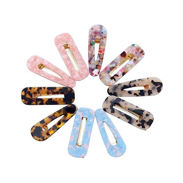 Beauty Shopping 10 Pcs Fani Hair Clips Hair Barrettes Hollow Geometric Hair Clip Hairpins for Women
