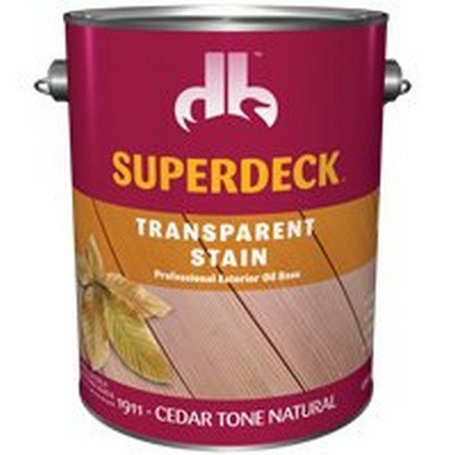 Superdeck Transparent Cedar Tone Natural Oil-Based Wood Stain 1 gal. - Case of: 4; -  DUCKBACK AQUISITION CORP, DB0019114-16