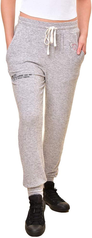Sundry Women's It Never Happens Like You Think Sweatpants Grey