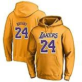 MAOMAOQUEENss Sudaderas con Capucha de # 24 Kobe# Bryant,#L.A Lakers Pullover Uniforme de Baloncesto Fans Camisetas de Entrenamiento,Moda Casual,Apto para Parejas,sin Deformación,sin Pelota,Yellowa-S