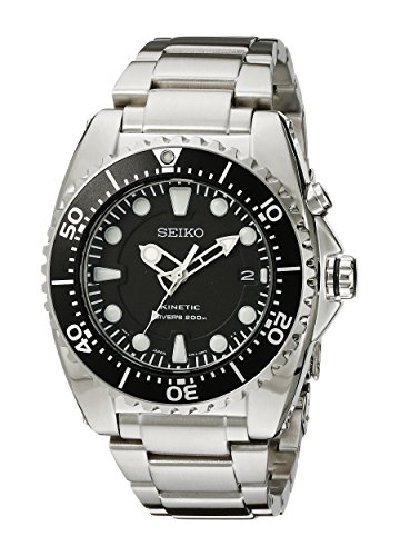 Seiko Men's SKA371 Kinetic Dive Analog...