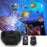 Proyección de planetas Luz de noche estrellada L-E-D Ocean Wave Galaxy Light Music Nebula Star Proyector Control remoto Bluetooth Reproductor de música para niños Bebé Home Planetarium