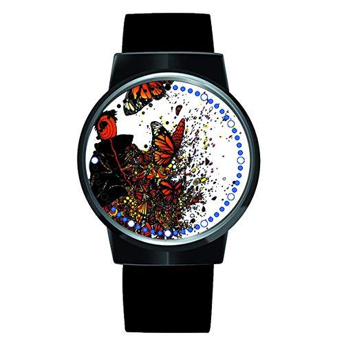 Naruto Kakashi Serie 3D Anime Uhr LED Touch Neuheit Uhren Sportuhren Personalisierte Uhr Unisex Uhren Geburtstagsgeschenk Collector's Edition