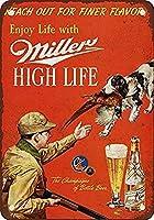 Miller Beer And Pheasant Hunting ティンサイン ポスター ン サイン プレート ブリキ看板 ホーム バーために