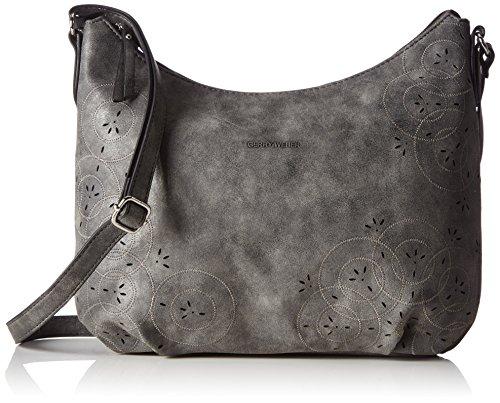 Gerry Weber Damen Good Day Shoulder Bag H, M Schultertaschen, Grau (802), 32x27x7 cm