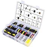 Conector eléctrico impermeable Aussel para coche. Terminales de 1, 2, 3, 4, 5 y 6 contactos con fusibles de cuchilla para motocicleta, escúter, camión, barco, etc. 216 piezas