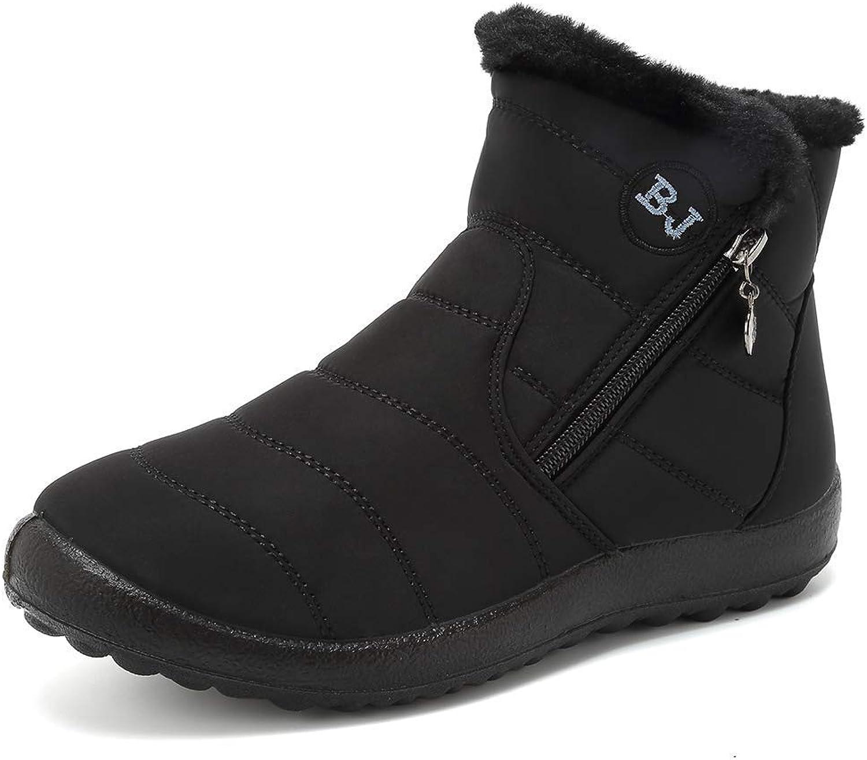 PRETTYHOMEL Fantiny Women's Snow Boots Fur Lined Winter Outdoor Anti-Slip Boots