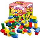 Sentik® Wooden Construction Building Blocks Bricks Children's Wood Toys Pieces Xmas Gift (75 Bricks (Boxed)