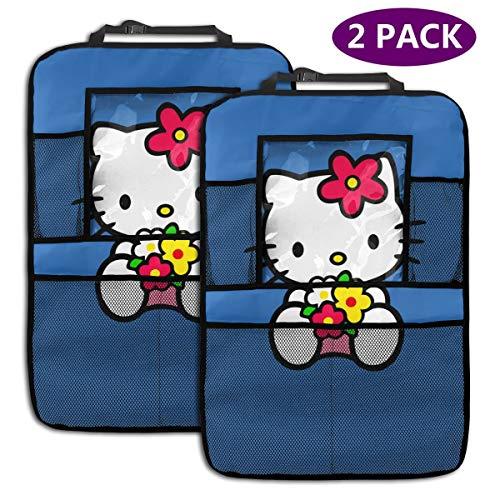TBLHM Hello Kitty-1 Lot de 2 organiseurs pour siège arrière de Voiture avec Support pour Tablette