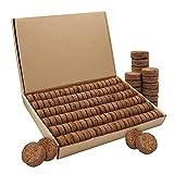 Xiangmall 120 Piezas Turba Prensada Turba 3 * 1 cm Coco Pellets Tablet para Semilleros Semillas Germinación Trasplantar (120 Piezas)